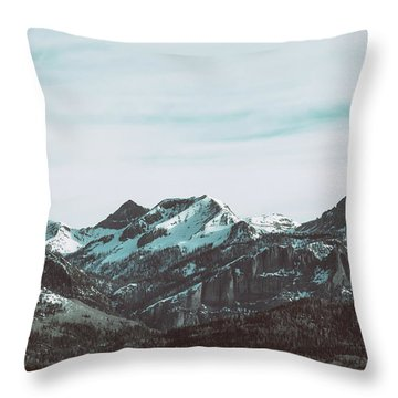 Saddle Mountain Morning Throw Pillow