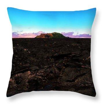 Saddle Road Humuula Lava Field Big Island Hawaii  Throw Pillow