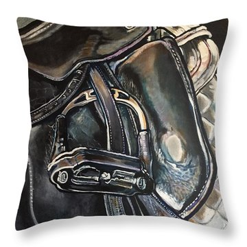Saddle Study Throw Pillow