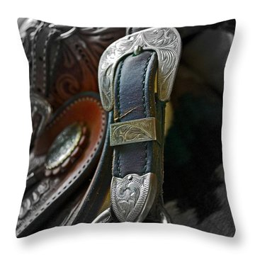 Saddle Your Dreams Throw Pillow by Gwyn Newcombe