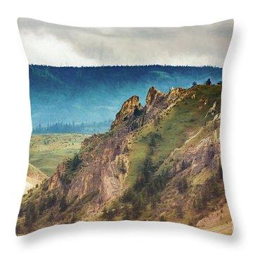 Saddlerock Mountain Throw Pillow