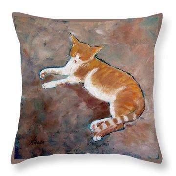 Saddle Tramp- Ranch Kitty Throw Pillow