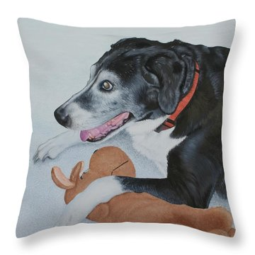 Throw Pillow featuring the painting Sadie by Mike Ivey