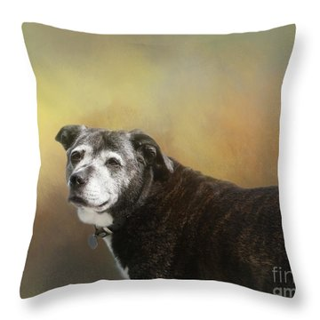 Sadie Throw Pillow by Victoria Harrington