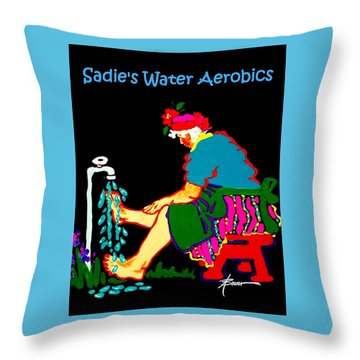 Sadie's Water Aerobics  Throw Pillow