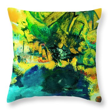 Safe Harbor #305 Throw Pillow by Donald k Hall