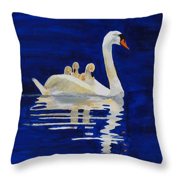Throw Pillow featuring the painting Safe Harbor by Rodney Campbell