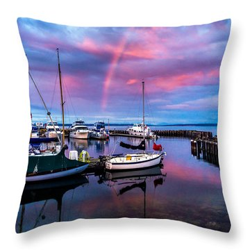 Throw Pillow featuring the photograph Safe Harbor by TL  Mair