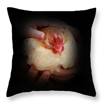 Safe In Our Hands Throw Pillow by Kim Henderson