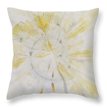 Throw Pillow featuring the mixed media Safe by Jessica Eli