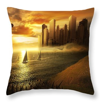 Safe Journey Throw Pillow by Svetlana Sewell
