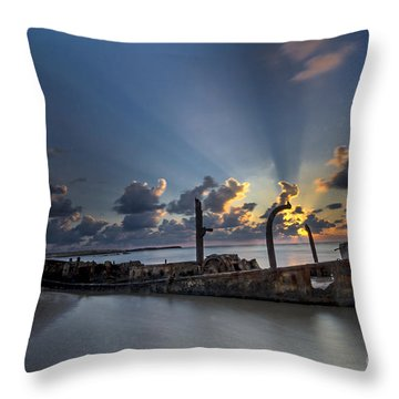Safe Shore Throw Pillow