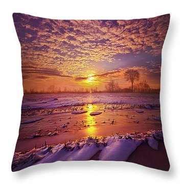 Throw Pillow featuring the photograph Safely Secluded In A Far Away Land by Phil Koch