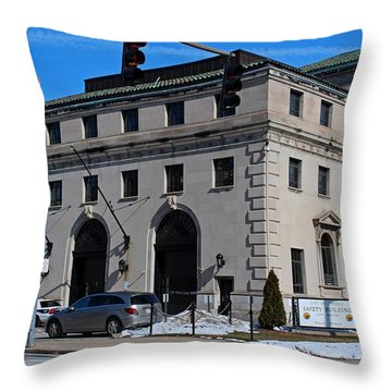 Safety Building Throw Pillow