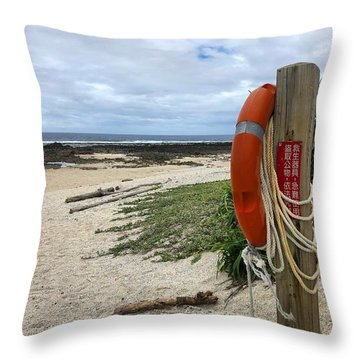 Throw Pillow featuring the photograph Safety First by Brian Eberly