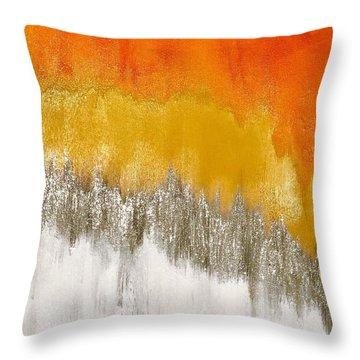 Saffron Sunrise Throw Pillow