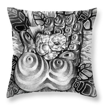 Safty Nest Throw Pillow