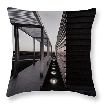 Throw Pillow featuring the photograph Sag Harbor Sunset 1 In Black And White by Rob Hans