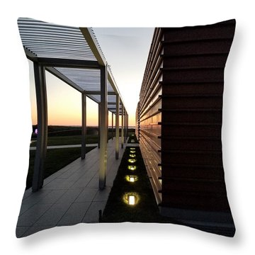 Throw Pillow featuring the photograph Sag Harbor Sunset 1 by Rob Hans