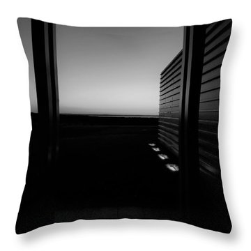 Throw Pillow featuring the photograph Sag Harbor Sunset 2 In Black And White by Rob Hans