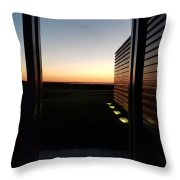 Throw Pillow featuring the photograph Sag Harbor Sunset 2 by Rob Hans