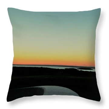 Throw Pillow featuring the photograph Sag Harbor Sunset 3 In Black And White by Rob Hans