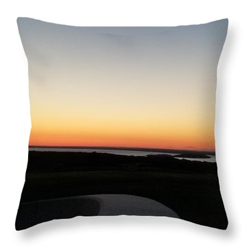 Throw Pillow featuring the photograph Sag Harbor Sunset 3 by Rob Hans