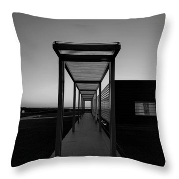 Throw Pillow featuring the photograph Sag Harbor Sunset In Black And White by Rob Hans