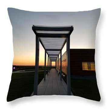 Throw Pillow featuring the photograph Sag Harbor Sunset by Rob Hans
