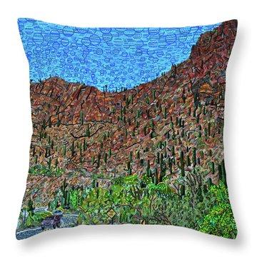 Sagauro National Park Throw Pillow by Micah Mullen