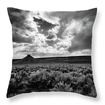 Sage And Clouds Throw Pillow