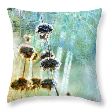 Sage Plant Throw Pillow by Robert Ball