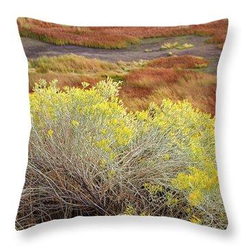 Sagebrush In The Malheur National Wildlife Refuge Throw Pillow