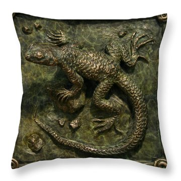 Sagebrush Lizard Throw Pillow by Dawn Senior-Trask