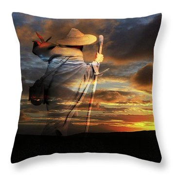 Throw Pillow featuring the digital art Sages Of The Universe by Shadowlea Is