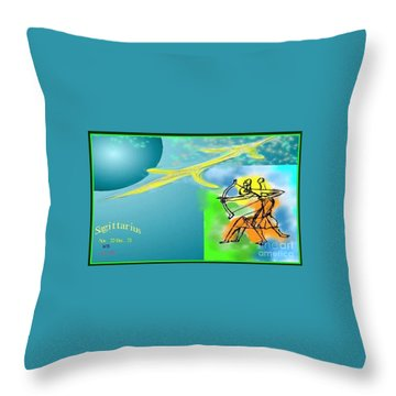Throw Pillow featuring the digital art Sagittarius by The Art of Alice Terrill