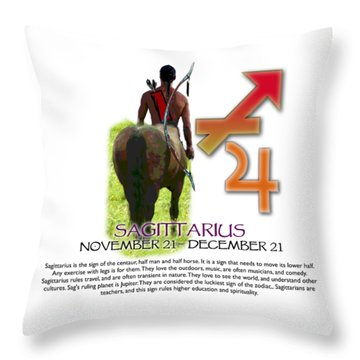 Sagittarius Sun Sign Throw Pillow