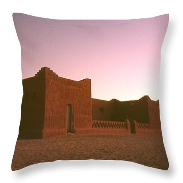 Sahara House Throw Pillow by David Halperin