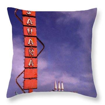 Sahara Motor Inn Throw Pillow