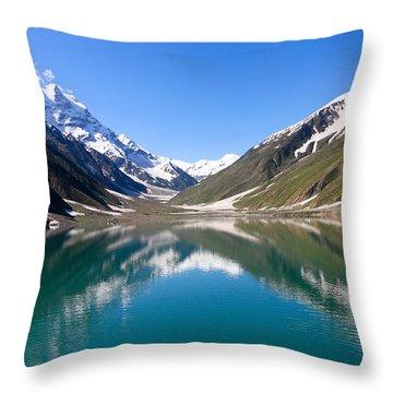 Saiful Malook Lake Throw Pillow