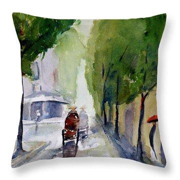 Saigon 1967 Tu Do Street Throw Pillow