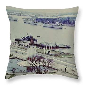 Saigon River, Vietnam 1968 Throw Pillow