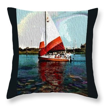 Sail Along On The Sea Throw Pillow