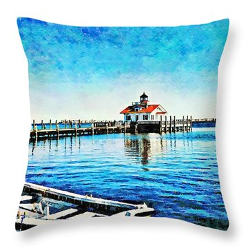 Throw Pillow featuring the painting Sail Away by Joan Reese