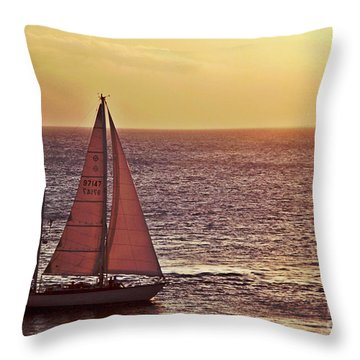 Sail Away Throw Pillow by Maria Arango