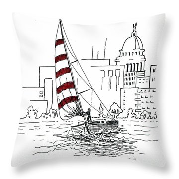 Sail Away Throw Pillow by Marilyn Smith