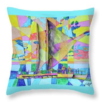 Sail Away Sunset Throw Pillow