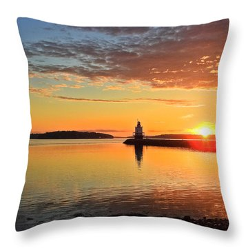 Sail Into The Sunrise Throw Pillow