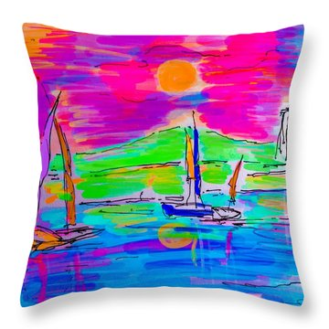 Sail Of The Century Throw Pillow