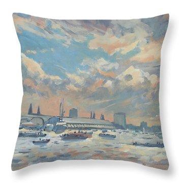 Sail Regatta On The Ij Throw Pillow